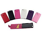Para Funda iPhone 6 / Funda iPhone 6 Plus Soporte de Coche / Flip Funda Cuerpo Entero Funda Un Color Dura Cuero SintéticoiPhone 6s Plus/6