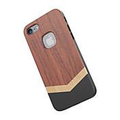 Funda Para iPhone 7 Apple Antigolpes Funda Trasera Fibra de Madera Dura De madera para