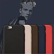 Funda Para Apple iPhone 8 iPhone 8 Plus iPhone 6 iPhone 6 Plus Other Funda Trasera Color sólido Dura Cuero de PU para iPhone 8 Plus