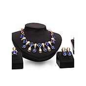 Mujer Apilable Conjunto de joyas - Gota Punk Incluir Morado / Azul Para Boda / Fiesta / Diario / Anillos