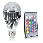 led rgb 전구 e27 / e26 8w 850lm 원격 제어 색상 변경 16 색 램프 85-265v