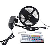 5 m Sets de Luces 300 LED 5050 SMD RGB Control remoto / Cortable / Regulable 100-240 V / Conectable / Adecuadas para Vehículos / Auto-Adhesivas / Color variable / IP44
