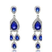 여성 드랍 귀걸이 합성 사파이어 패션 크리스탈 보석류 제품 결혼식 파티 일상