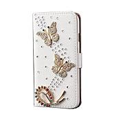 Para Soporte de Coche con Soporte Funda Cuerpo Entero Funda Mariposa Dura Cuero Sintético para Apple iPhone 6s Plus/6 Plus iPhone 6s/6