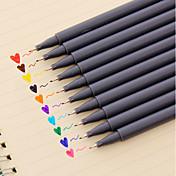 Gel Penn Penn Akvarell penner Penn, Plast Rød Sort Blå Gul Lilla Oransje Grøn blekk farger For Skole materiell Kontorrekvisita Pakke med