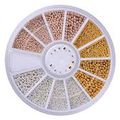 1set Joyería de uñas Glitters Metálico Moda Alta calidad Diario