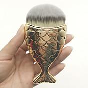 1pcs Pinceles de maquillaje Profesional Cepillo para Base Pelo Sintético Portátil / Viaje / Ecológica Plástico Pincel Mediano