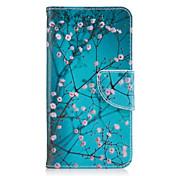 Funda Para Samsung Galaxy J5 (2016) J3 (2016) Soporte de Coche Cartera con Soporte Flip Cuerpo Entero Flor Dura Cuero Sintético para J5