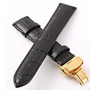 Los hombres / las bandas women'swatch accesorios de cuero reloj de vaca 18mm