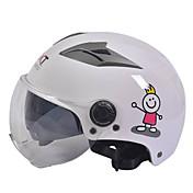 GXT m11 motorsykkel halv hjelm dual-linse harley solkrem hjelm sommer unisex egnet for 55-61cm med kort gjennomsiktig linse