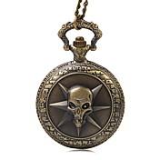 Hombre Cuarzo Reloj de Bolsillo Reloj Casual Tejido Banda Vintage Bronce Rose