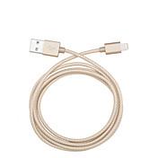 IMF 8pin torcedura cable de datos USB de sincronización de tejido de nailon cable de carga para el iPhone5 6 6 más ipad transmisión de