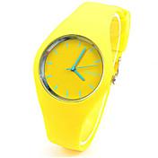 Women's Fashion Watch Quartz Rubber Band Casual Blue Green Yellow