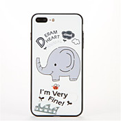 Para con Soporte Diseños Funda Cubierta Trasera Funda Elefante Dura Policarbonato para AppleiPhone 7 Plus iPhone 7 iPhone 6s Plus iPhone