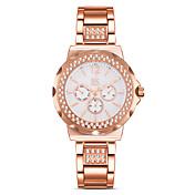 SK Mujer Simulado Diamante Reloj Reloj de Moda Chino Cuarzo Resistente al Agua La imitación de diamante Resistente a los Golpes Aleación