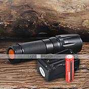 UltraFire W-878 Linternas LED LED 1800 lm 5 Modo LED con pilas y cargador Enfoque Ajustable Camping/Senderismo/Cuevas De Uso Diario