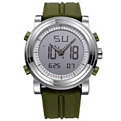 SINOBI 남성용 스포츠 시계 디지털 시계 석영 디지털 방수 야광 충격 방지 스톱워치 실리콘 밴드 캐쥬얼 멋진 블랙 화이트 오렌지 그린 그레이