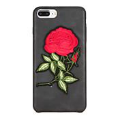 용 DIY 케이스 뒷면 커버 케이스 꽃장식 하드 인조 가죽 용 Apple 아이폰 7 플러스 아이폰 (7) iPhone 6s Plus iPhone 6 Plus iPhone 6s 아이폰 6