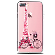 Funda Para Apple iPhone X iPhone 8 iPhone 8 Plus Transparente Diseños Funda Trasera Torre Eiffel Suave TPU para iPhone X iPhone 8 Plus