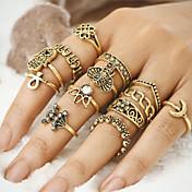 Dame Ring - Legering Ondt øye Unikt design, Vintage, Bohemsk En størrelse Gull / Sølv Til Fest / Daglig / Avslappet / 12pcs