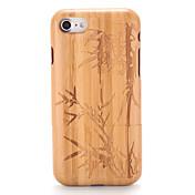 Etui Til Apple iPhone 7 Plus iPhone 7 Mønster Inngravert Bakdeksel Trefiber Tre Hard Tre til iPhone 7 Plus iPhone 7 iPhone 6s Plus iPhone