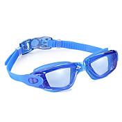 Gafas de natación Anti vaho Impermeable Tamaño Ajustable Gel de Sílice PC Negro Azul Gris Claro Azul claro