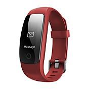 hhy id107plus ritmo cardíaco pulsera inteligente movimiento información llamada recordatorios salud seguimiento pulsera