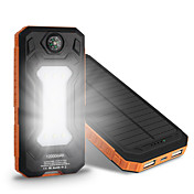 10000mAh banco de la energía de la batería externa 5V 1.0A 2.0AA Cargador de batería Multisalida Carga Solar Superslim Corriente con