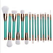 1set Konturbørste Foundationbørste Pudderbørste Concealer-børste Øyenvippe Børste øyenvippe kam (rund) øyebryn børste Leppebørste