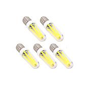 5pcs 4W 300lm E14 G9 LED-glødepærer T LED perler Mulighet for demping Varm hvit Kjølig hvit 220-240V