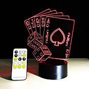 Tarjetas de póquer 3d lámpara romántica 7 colores cambiar la luz de la noche táctil casa café bar decorativos regalos de año nuevo
