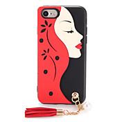 Para Carcasa Funda Diseños Manualidades Cubierta Trasera Funda Chica Sexy Suave TPU para AppleiPhone 7 Plus iPhone 7 iPhone 6s Plus