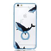 Para la caja dura de la contraportada del caso del patrón del sostenedor del anillo pc dura para el iphone de la manzana 6s más el iphone