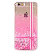 Etui Til Apple iPhone 7 Plus iPhone 7 Flommende væske Mønster Bakdeksel Glimtende Glitter Blonde Print Hard PC til iPhone 7 Plus iPhone 7