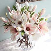 Flores Artificiales 1 Rama Estilo europeo Magnolia Flor de Mesa