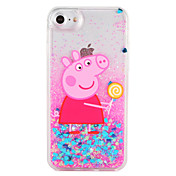 Funda Para Apple iPhone 7 Plus iPhone 7 Líquido Diseños Funda Trasera Brillante Caricatura Dura ordenador personal para iPhone 7 Plus