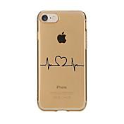 Funda Para Apple iPhone X iPhone 8 Transparente Diseños Funda Trasera Corazón Suave TPU para iPhone X iPhone 8 Plus iPhone 8 iPhone 7