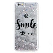 Funda Para Apple iPhone 7 Plus iPhone 7 Líquido Diseños Funda Trasera Palabra / Frase Brillante Caricatura Suave TPU para iPhone 7 Plus