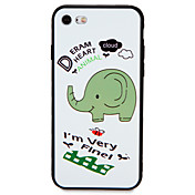 Para Carcasa Funda Diseños Cubierta Trasera Funda Elefante Suave TPU para AppleiPhone 7 Plus iPhone 7 iPhone 6s Plus iPhone 6 Plus iPhone