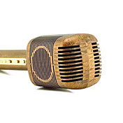 Jy-51 retro madera estilo de color karaoke micrófono inalámbrico bluetooth mic altavoz canción grabadora música ktv