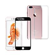 Protector de pantalla Apple para iPhone 7 Plus Vidrio Templado 1 pieza Protector de Pantalla Posterior y Frontal Anti-Huellas