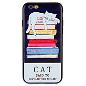 Para Carcasa Funda Diseños Cubierta Trasera Funda Gato Suave TPU para AppleiPhone 7 Plus iPhone 7 iPhone 6s Plus iPhone 6 Plus iPhone 6s