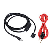 Kkmoon aux modo de entrada de cable de 3,5 mm hembra tablero montaje para bmw e46 98-06 cable de audio para teléfono mp3 player