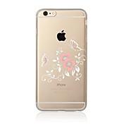 Funda Para Apple iPhone X iPhone 8 iPhone 8 Plus Transparente Diseños Funda Trasera Flor Suave TPU para iPhone X iPhone 8 Plus iPhone 8