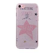 Para el iphone de la manzana 7 7 más 6s 6 más el se 5s 5 encajonan el patrón de las estrellas de la cáscara el polvo del imd procesa la