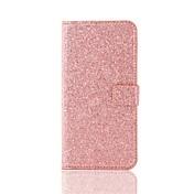 Etui Til Apple iPhone X iPhone 8 Kortholder Lommebok Heldekkende etui Glimtende Glitter Hard PU Leather til iPhone X iPhone 8 Plus iPhone