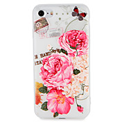 케이스 제품 Apple iPhone 7 Plus iPhone 7 패턴 엠보싱 텍스쳐 뒷면 커버 버터플라이 꽃장식 소프트 TPU 용 iPhone 7 Plus iPhone 7 iPhone 6s Plus iPhone 6s iPhone 6 Plus