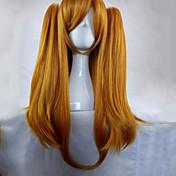Mujer Pelucas sintéticas Sin Tapa Largo Liso Naranja Peluca con trenzas Trenzas africanas Con coleta Peluca de cosplay Las pelucas del