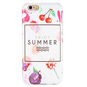 Funda Para Apple iPhone 7 Plus iPhone 7 IMD Diseños Funda Trasera Palabra / Frase Fruta Suave TPU para iPhone 7 Plus iPhone 7 iPhone 6s
