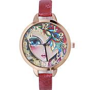 Mujer Reloj de Moda Reloj de Pulsera Cuarzo Piel Banda Bohemio Negro Rojo Marrón Dorado Azul marino Rose